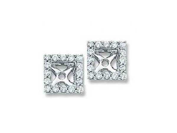 DIAMOND EARRING JACKETS - Lady's Diamond Earring Jackets With 32=0.16Tw Round G/H Si2 Diamonds
