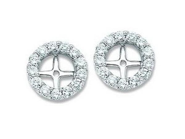 DIAMOND EARRING JACKETS - Lady's Diamond Earring Jackets With 40=0.25Tw Round G/H Si2 Diamonds