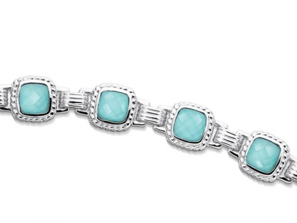 Silver Bracelet w/Colored Stones by Colore