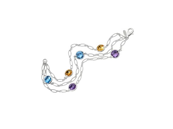 Silver Bracelet w/Colored Stones - Lady