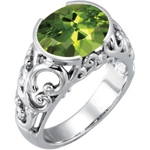 "AUGUST BIRTHSTONES - PERIDOT -  BIRTHSTONE OF THE MONTH - PERIDOT Peridot is the official birthstone for the month of August. It is also the stone for the Zodiac sign of Libra. Peridot may also be given as a gem on the 16th wedding anniversary. The name Peridot is pronounced (Pear- a- doe). Peridot is the gem variety of olivine and ranges between 6.5 and 7 on the Mohs scale of hardness. Gem quality peridot comes from Arizona, Burma, Norway, islands in the Red Sea, Hawaii and is sometimes found in meteorites. It's been mined as a gemstone for thousands of years, and is mentioned in the Bible under the name of Chrysolite. Legend says that peridot was one of the favorite gemstones of Cleopatra and that some of the ""emeralds"" worn by her were actually peridot. Peridot is thought to bring the wearer good luck, peace, and success."